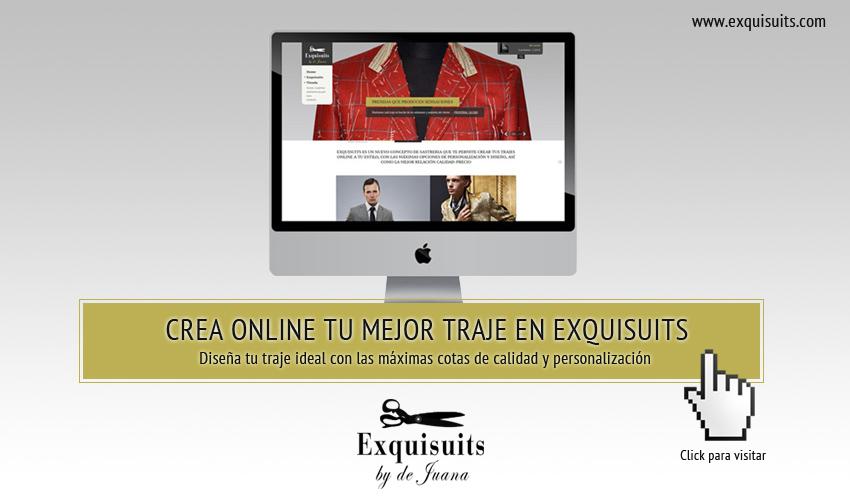 Crea online tu mejor traje en Exquisuits