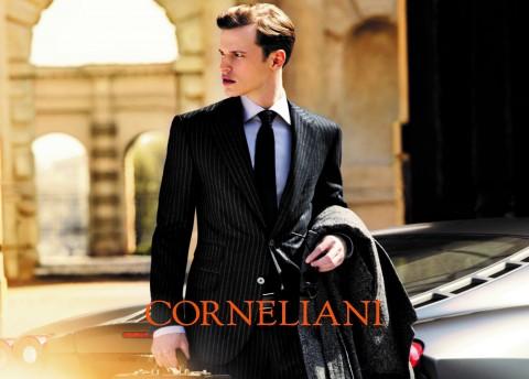 Traje diplomático gris antracita Corneliani