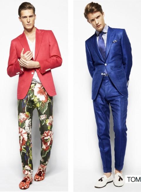 Americana roja traje azul P/V 2014 Tomford