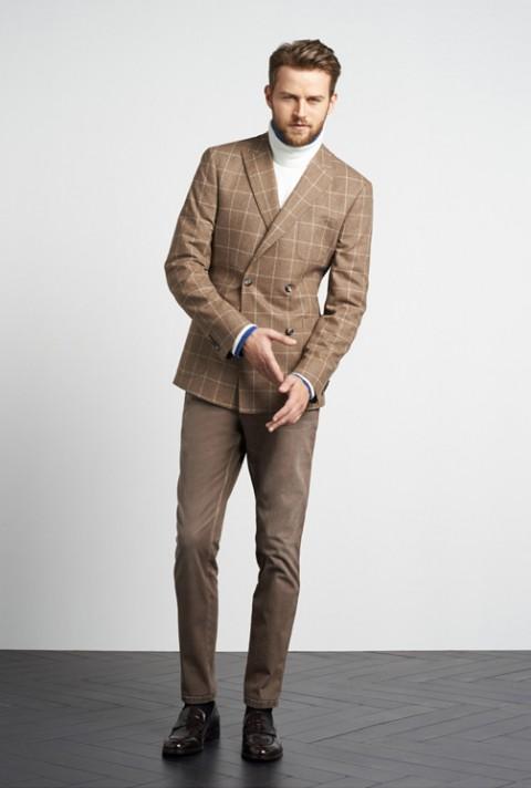 Americana marrón cuadro Tommy Hilfiger Tailored O/I 2014
