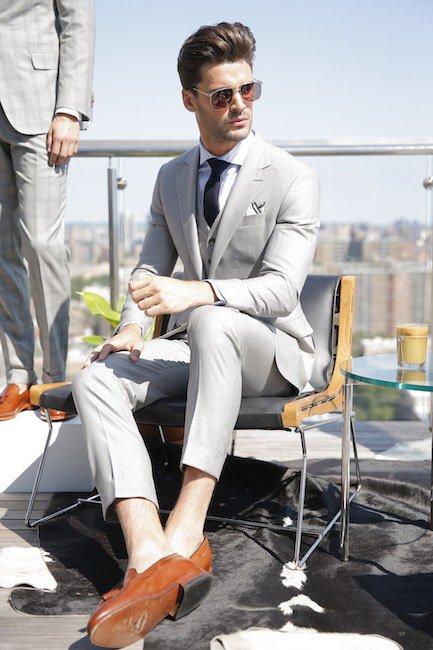 Grey suit with waistcoat Traje S/S 2016