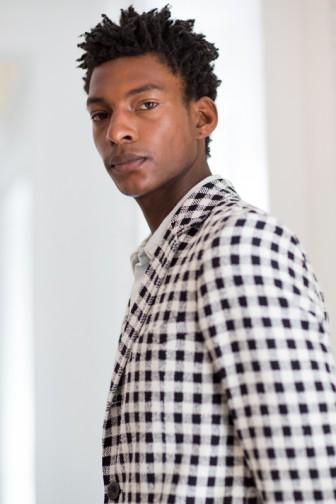 Black checked Jacket Hardy Amies S/S 2017