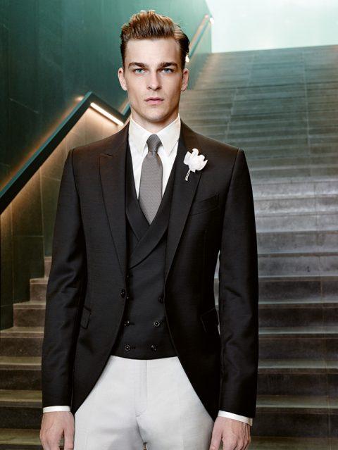 Black jacket and white trousers Carlo Pignatelli Sartorial 2016