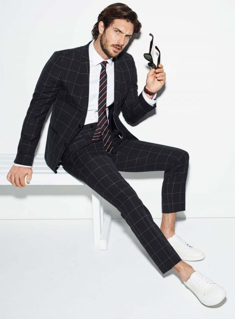Checked suits Simons Spring 2016