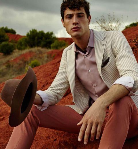 Striped jacket Luigi Bianchi Mantova
