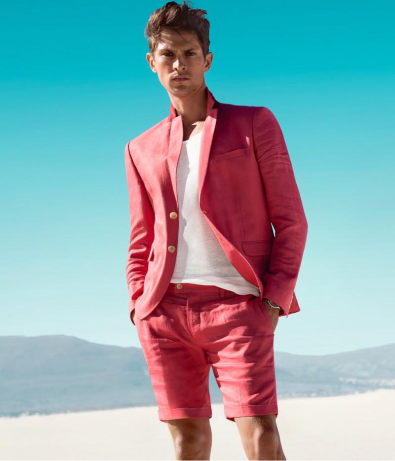 Traje rojo pantalón corto H&M P/V 2013