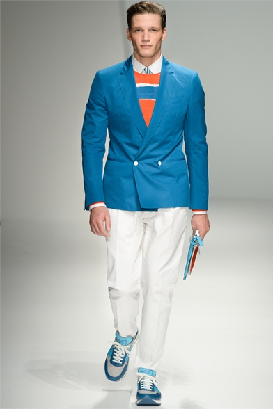 Americana cruzada azul Salvatore Ferragamo