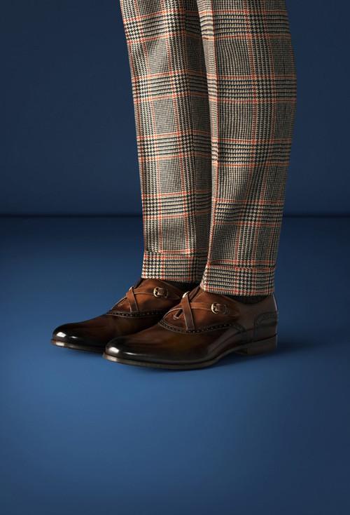 Pantalón bajo cuadro gales Lapo's Wardrobe by Gucci