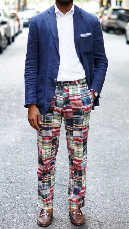 Pantalón patchwork