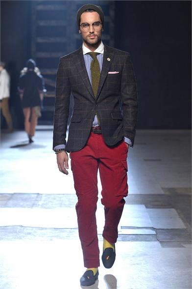 Americana cuadro pantalón rojo MICHAEL BASTIAN O/I 2013