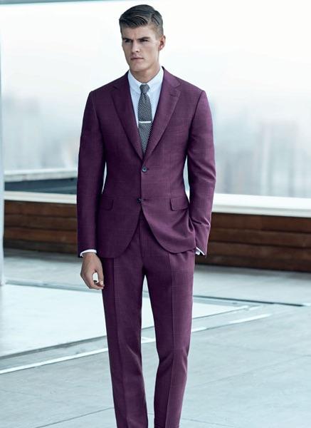 Traje violeta Brioni S/S 2015