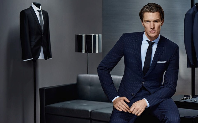 Traje azul diplomático Hugo Boss Made to Measure