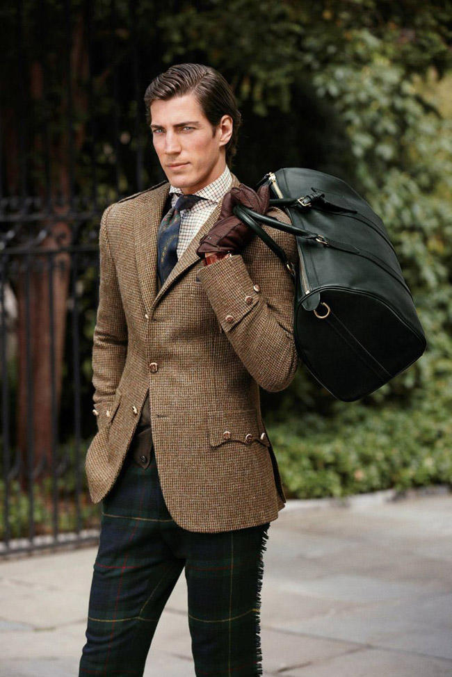 Americana marrón pantalón cuadro Ralph Lauren