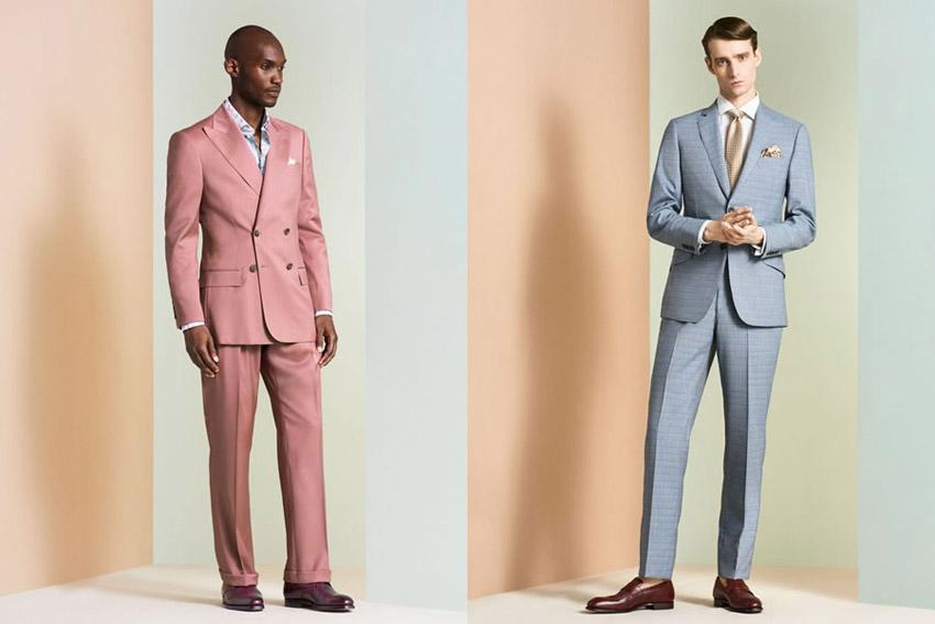 Trajes rosa y Azul Cielo Richard James P/V 2018