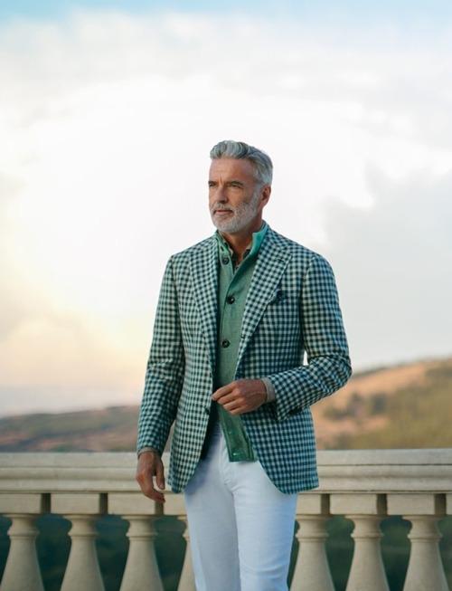 Americana verde cuadro Cesare Attolini Pri/Ver 2018