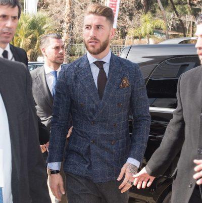 Americana cruzada vestida por Sergio Ramos