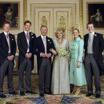 Familia Real inglesa vistiendo de chaqué