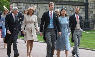 Familia de Kate Middleton vistiendo de chaqué
