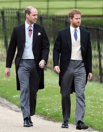 Prince william y prince Harry vistiendo de chaqué